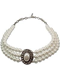 Alpenflüstern Perlen-Collier Sissi - Trachtenkette Damen-Trachtenschmuck Dirndlkette in traditionellen Farben DHK087