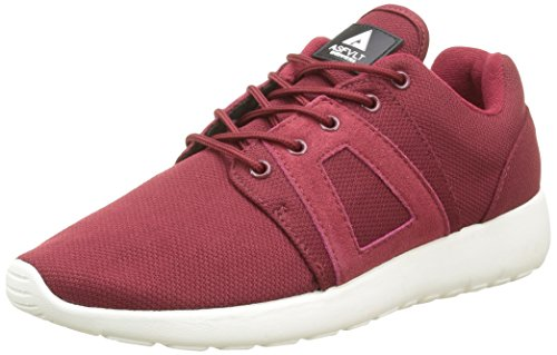 Asfvlt Super, Baskets Basses Mixte Adulte Rouge (Burgundy)