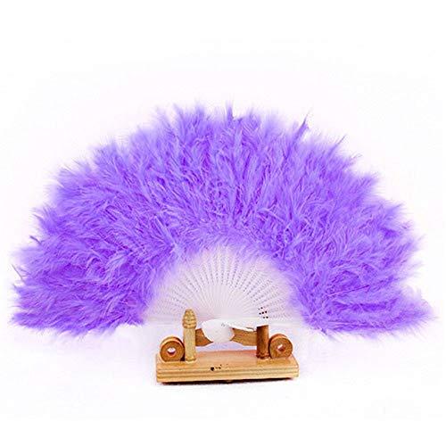 Kbwl ventilatori a mano piume simpatiche piume d'oca ventaglio pieghevole bomboniere e articoli da regalo puntelli da ballo d