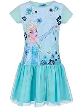 Disney Die Eiskönigin Elsa & Anna Mädchen Kleid - blau