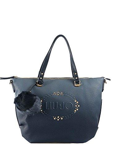 Borsa shopping Liu Jo lucciola sfumata blu scuro blu chiaro
