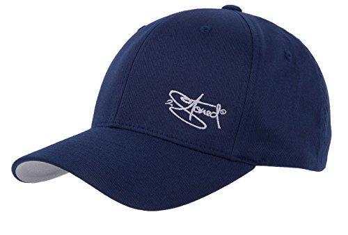 2Stoned Flexfit Cap Wooly Combed Navy mit Stick, Größe S/M (56 cm - 58 cm), Basecap für Damen und Herren Navy Blue Cap