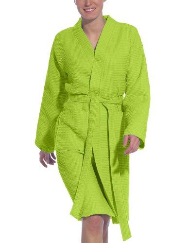 Vossen Damen Bademantel Rom, Einfarbig, Gr. XXL (52/54), Grün (meadowgreen) - Grüne Herren-robe