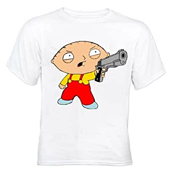 Stewie Griffin Hands Up J21 White T-Shirt (Small)