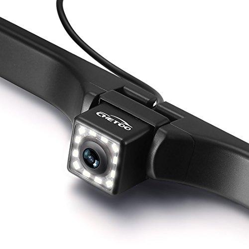 Rückfahrkamera an Nummernschild anbringbar 170 Sichtwinkel Nachtsicht Einparkhilfe Wasserdicht 12 LEDs
