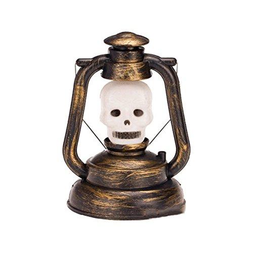 TONGTAIRUI-LIGHTS LED-Lampen für Zuhause Warme 3W Halloween Deko Prop Kürbis Hexe Laterne Hand Totenkopf Lampe tragbare Nachtlicht geisterhaft Lachen Licht enthält Keine Batterien Glühbirnen