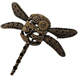 Antique Dragonfly Gear Pin