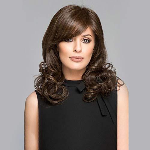 Wig parrucche di capelli ricci marrone breve paragrafo per le donne parrucca cosplay fibra resistente alla ricerca di calore naturale con cappuccio parrucca libera 16,5