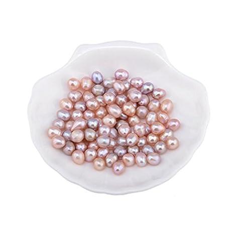 FEITONG 10/20/30Pcs/50/100Pcs New 7-8mm Natural Freshwater Real Pearl Loose Beads