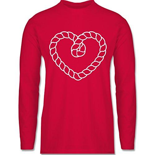 Shirtracer Romantisch - Tau Herz - Herren Langarmshirt Rot. Das langärmelige  Shirt ...