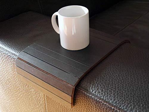Holz sofa armlehnentisch in vielen farben wie schwarz Armlehnentablett Moderner tisch für couch Klein schleichendes sofatisch Armlehne flexibel tablett Falten couchtisch Kleine tische - Schwarz Moderner Couchtisch