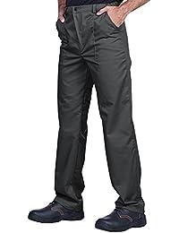 Uomo Tuta da Lavoro con molteplici Tasche Grigio//Nero//Arancione Stenso Emerton/®