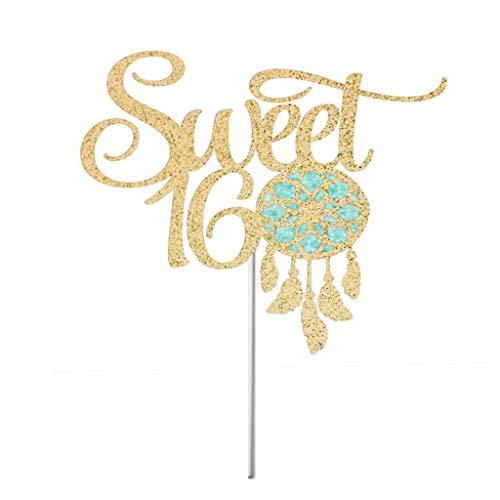 Sweet 16 Dream Catcher Tortenaufsatz, süße 16 Party-Dekorationen, süße 16 Party-Dekoration, süße 16 Geburtstag, Boho Dream Catcher