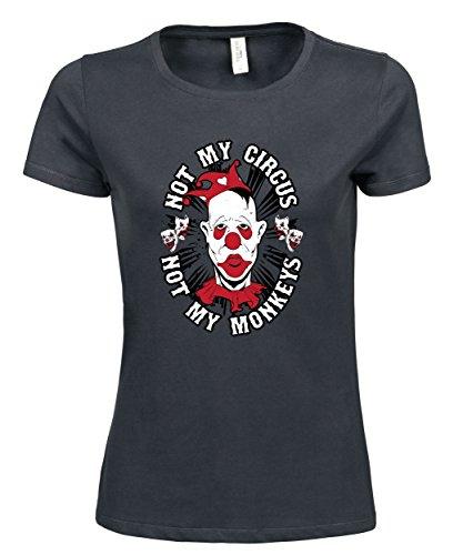 makato Damen T-Shirt Luxury Tee Not Mine Dark Grey