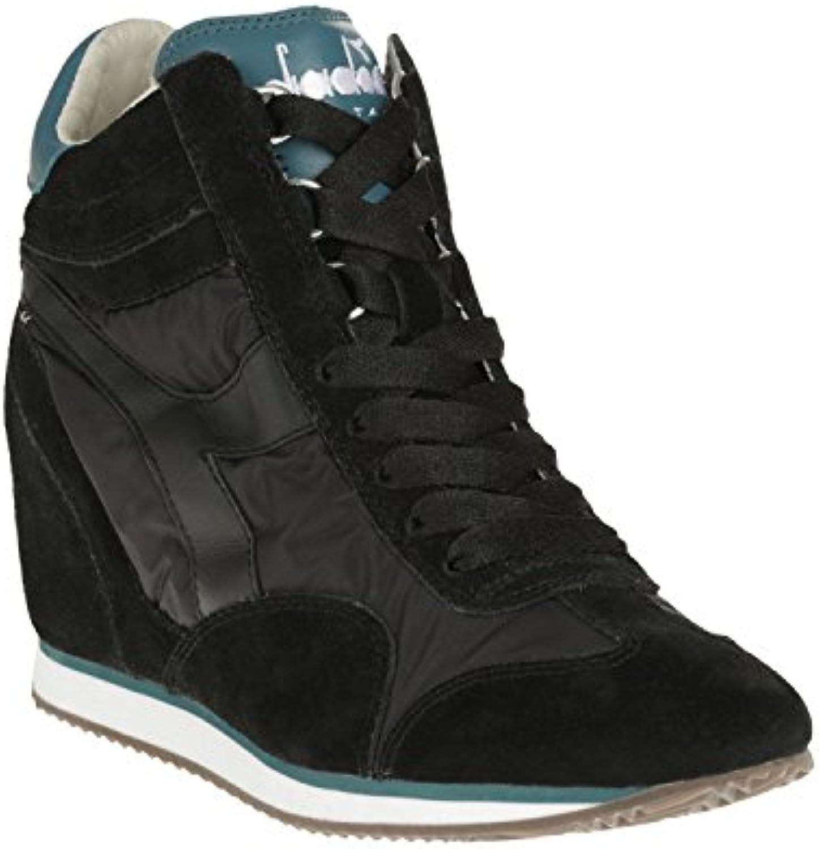 Scarpe scarpe scarpe scarpe da ginnastica Donna Diadora Equipe W Nyl Win Pelle Scamosciata Nero | Regalo ideale per tutte le occasioni  | Scolaro/Signora Scarpa  71134f