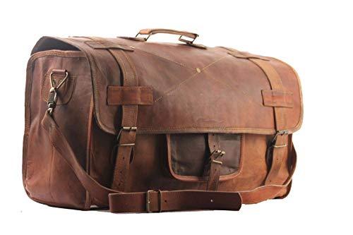 Antik Leder Gepäck (Cuero Herren Reisetasche mit Klappe im Retro-Stil, 50,8 cm)
