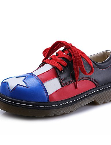 ZQ hug Scarpe Donna-Sneakers alla moda-Casual-Creepers / Punta arrotondata / Chiusa-Plateau-Finta pelle-Nero , black-us8 / eu39 / uk6 / cn39 , black-us8 / eu39 / uk6 / cn39 black-us5.5 / eu36 / uk3.5 / cn35