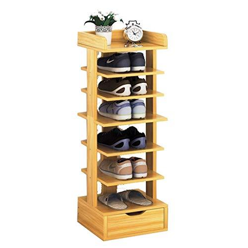 ZALIANG Platzsparende Lagerung Massivholz Schuhregal wirtschaftliche Aufbewahrungsbox, Home Storage dekorative Schuhregal (Color : C)