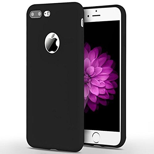 Cover iPhone 7 Plus (5.5 pollici) Spiritsun iPhone 7 Plus Custodia TPU Moda Elegante Case Cover Soft Silicone Back Cover Protezione Bumper Funzione Shell Morbida Flessible TPU Cover Per iPhone 7 Plus  Nero