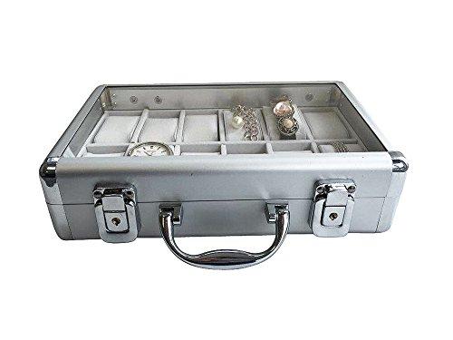 Uhrenkoffer aus Aluminium für 12 Uhren - 5