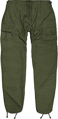 normani US Rangerhose Freizeithose Rangerhose BDU Style Rip Stop Farbe Oliv Größe XXL