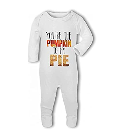 Youre the Pumpkin to my Pie cute funny food - Baby Romper Suit - 6-12 Months