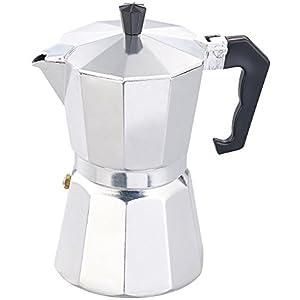 Cucina di Modena Espressokocher: Espresso-Kocher für 6 Tassen, für Gas, Elektro-Herd und Ceran-Feld (Mokkakanne)