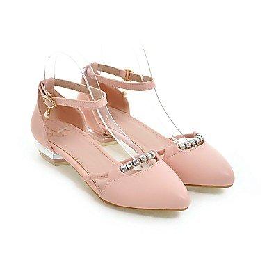 Talloni delle donne Primavera Estate Autunno Inverno Dress Altro PU ufficio & carriera Party & Sera bassa tacco grosso fibbia Blu Rosa Bianco Pink