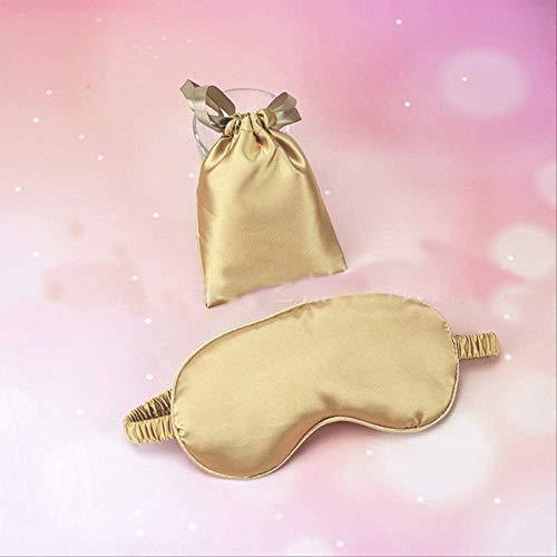 Augenmaske für schlafende Seide, 100% reine Seide Doppelseite Schattierung Schatten schlafen Augenmaske, für Männer, Frauen und Kinder gold -