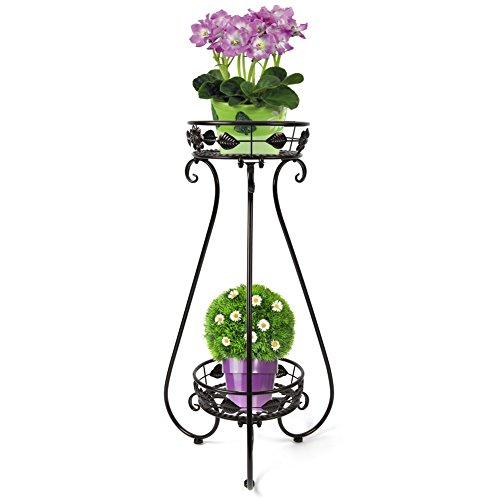 yuda-metlico-de-2pisos-jarrn-garden-plant-rack-soporte-patio-de-flores-de-interior-y-exterior-pantal