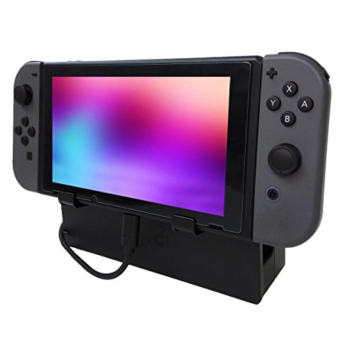 Hikfly Verlängerungskabel (1,6ft) Set für Nintendo Switch Konsolen Belüftung mit Spiele Speicher Cartridge Dock und 2pcs Hakenständer