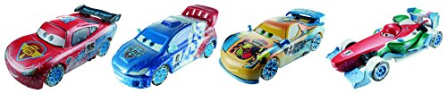 Disney Cars Ice Racers - Moscow Race 4-Pack mit Raoul Caroule, Vitaly Petrov, Lightning McQueen und Francesco Bernoulli