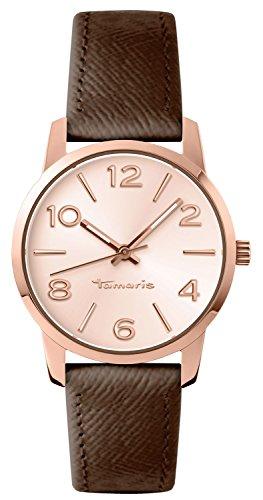 Tamaris B10212020 - Orologio da polso Donna, Pelle, colore: Marrone
