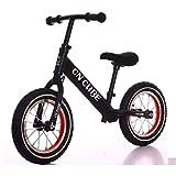 Dsrgwe Kinder Laufrad,Lauflernrad, Balance Bike, Kid Push-Bike, 12' Nein Pedale Strider Fahrrad, Aluminiumlegierung Rahmen, for 2-4 Jahre Jungen Mädchen (Color : Black)