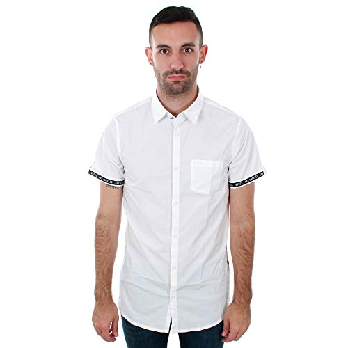 Guess Chemise Manches Courtes Jeans m82h12 Classy Blanc