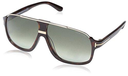 Tom Ford Herren FT0335 56K 60 Sonnenbrille, Braun (Avana/Altro/Roviex Grad)