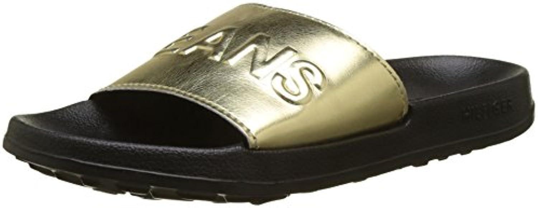 best service 669a8 605d6 Tommy Beach Jeans Womens Tj 27068 Metallic Pool Slide Beach Shoes Shoes  Parent B078T6VZ2B 492b133