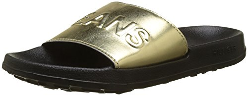 Hilfiger Denim Damen TJ METALLIC Pool Slide Badeschuhe, Gold (Light Gold 708), 37/38 EU