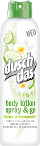 Duschdas Body Lotion Spray & Go Gurken- & Seerosenduft, 6er Pack (6 x 190 ml)