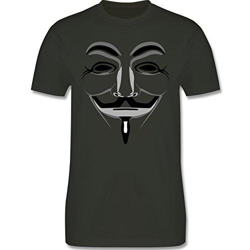 Nerds & Geeks - Anonymous Maske - Herren Premium T-Shirt Army Grün