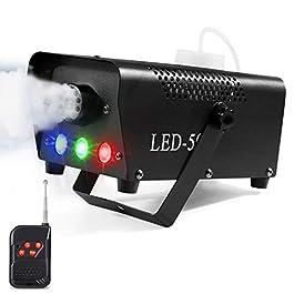 AGPtEK Macchina per la nebbia con telecomando senza fili e luce LED colorata, 500 Watt, stabile e portatile, adatta per…