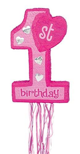 (Amscan Pinata 1. Geburtstag, rosa)