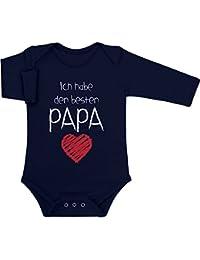 Papa - Geschenk für Vater Baby Langarm Body