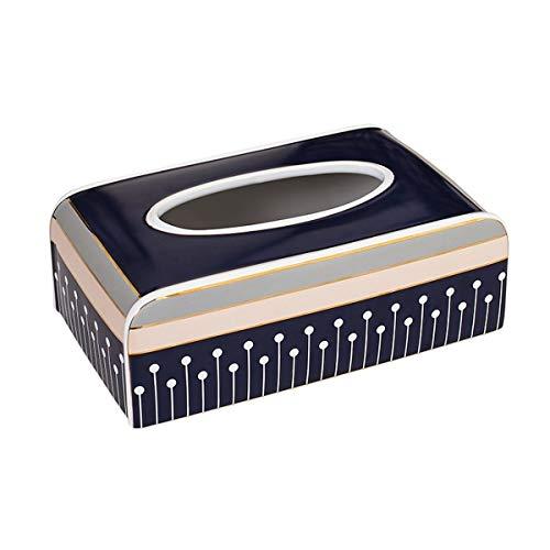 KylinQ Keramik Tissue Box Cover rechteckige Ficial Tissue Holder Dispenser für Esszimmer, Küche, Schlafzimmer Kommoden und Wohnkultur (Keramik Tissue Box Cover)