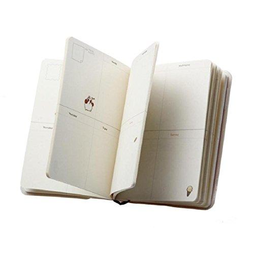 Agenda geteilten Notebooks 200Seiten, Transer® 1PC Molang Diary Wochenplaner Agenda Notizbuch Cute Kaninchen Tagebuch Notizblock kawaii Bild Agenda Diaries Size: 17 x 12 cm blau (Veranstalter Notebooks)