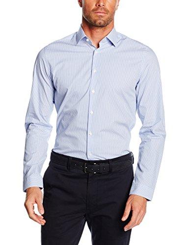 Seidensticker Herren Businesshemd Business Kent, Blau (Blau 13), Kragenweite: 39 cm
