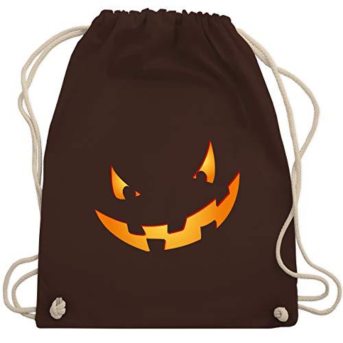 Halloween - Kürbisgesicht klein Pumpkin - Unisize - Braun - WM110 - Turnbeutel & Gym ()