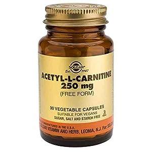 41mfTjToRJL. SS300  - Solgar Acetyl-L-Carnitine 250 mg Vegetable Capsules - Pack of 30
