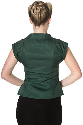 Banned mASTER dREAM t-shirt à manches courtes pour femme vert/rockabilly vert foncé
