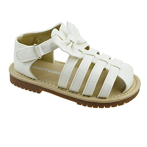 girls-sandals-kids-casual-summer-beach-shoes-sandals-infant-sizes-white-pink-uk6-infant-white